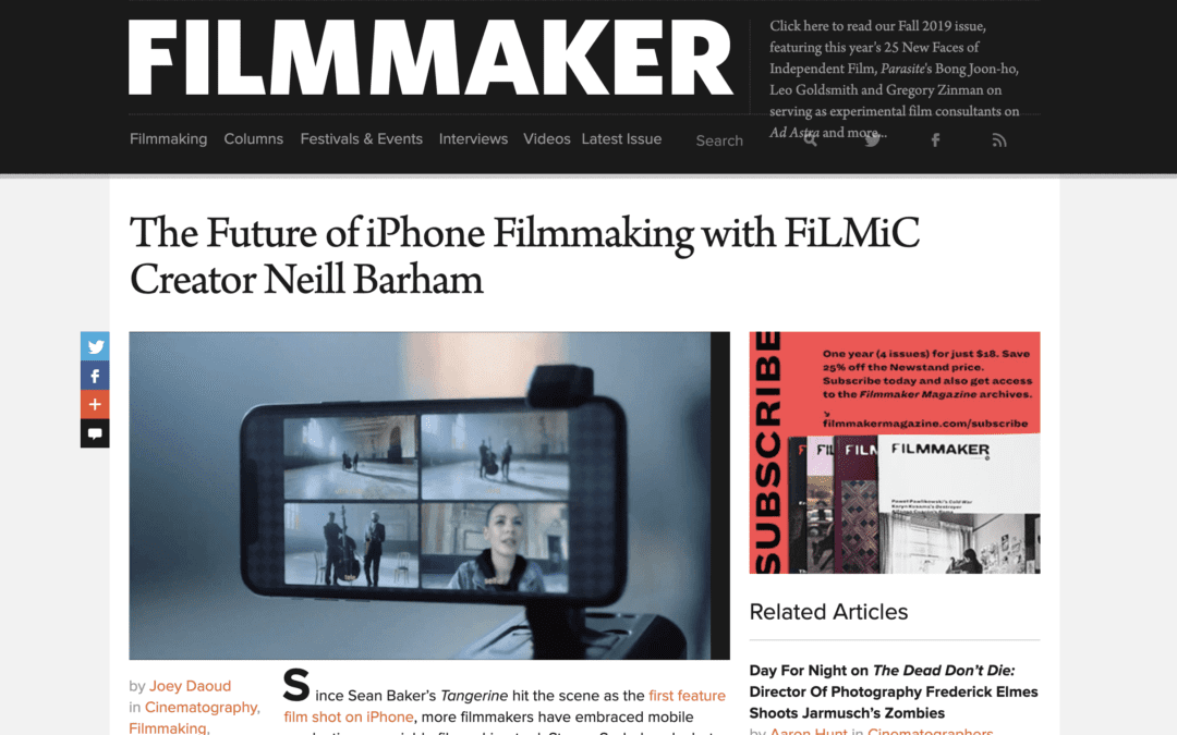 Discussing the Future of iPhone Filmmaking with FiLMiC Pro Creator