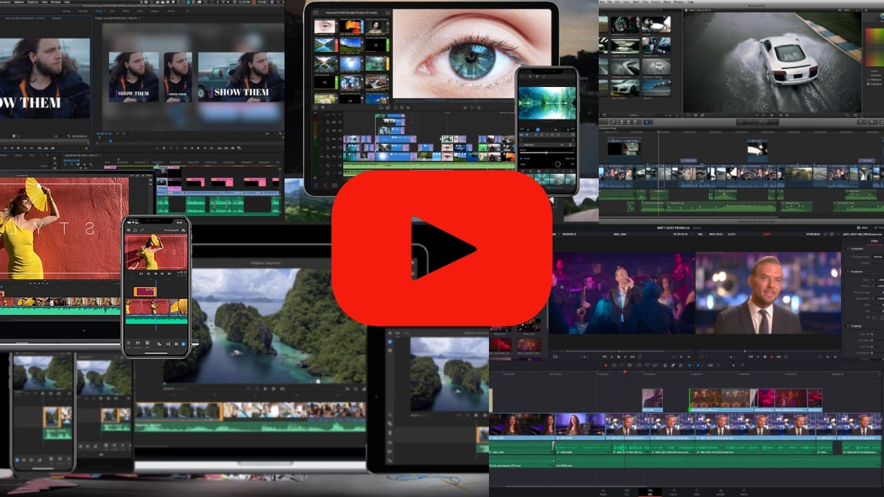 Montage of all the video editing options in this post