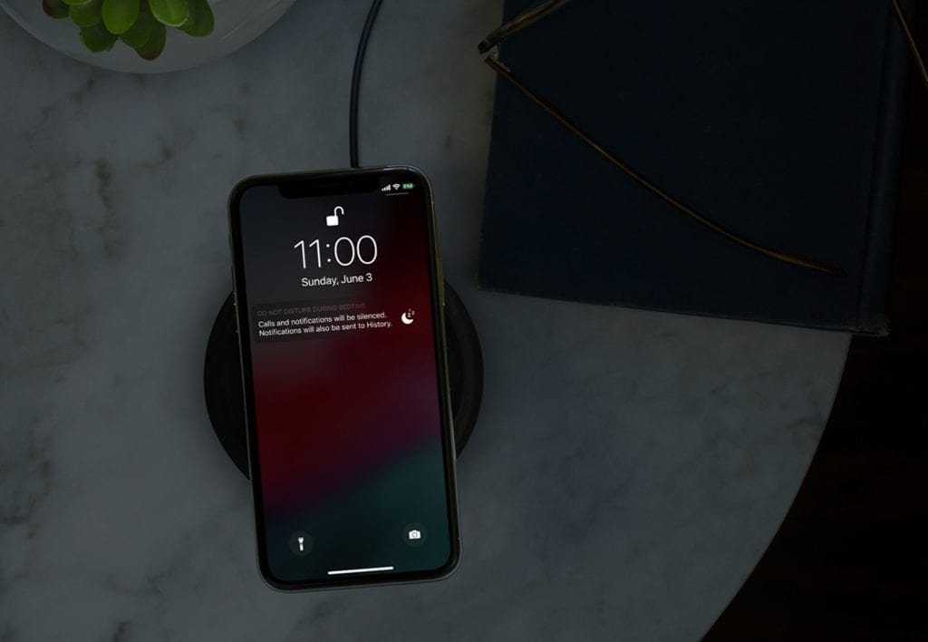 Do Not Disturb during Bedtime mode dims the display and hides all notifications on the lock screen until prompted in the morning.